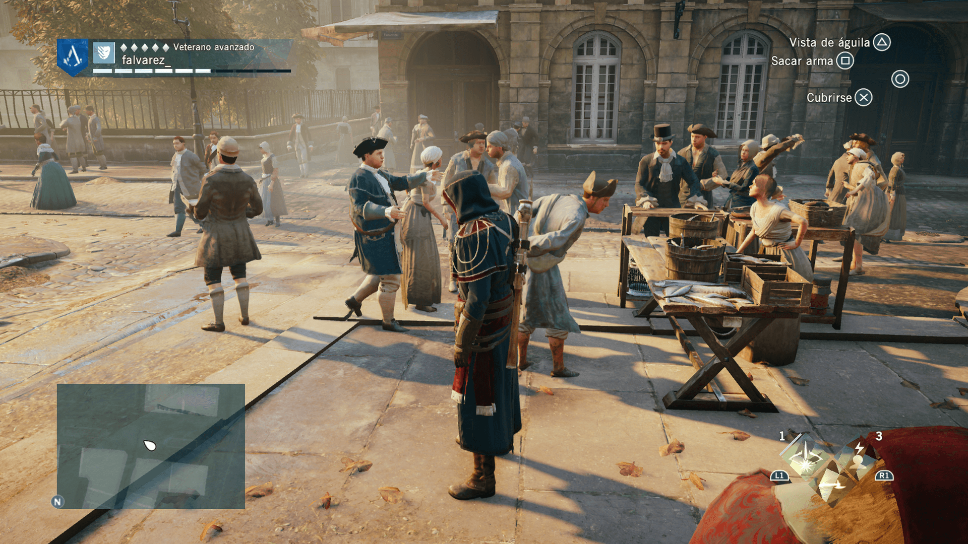 Assassin's Creed Unity Personajes en pantalla