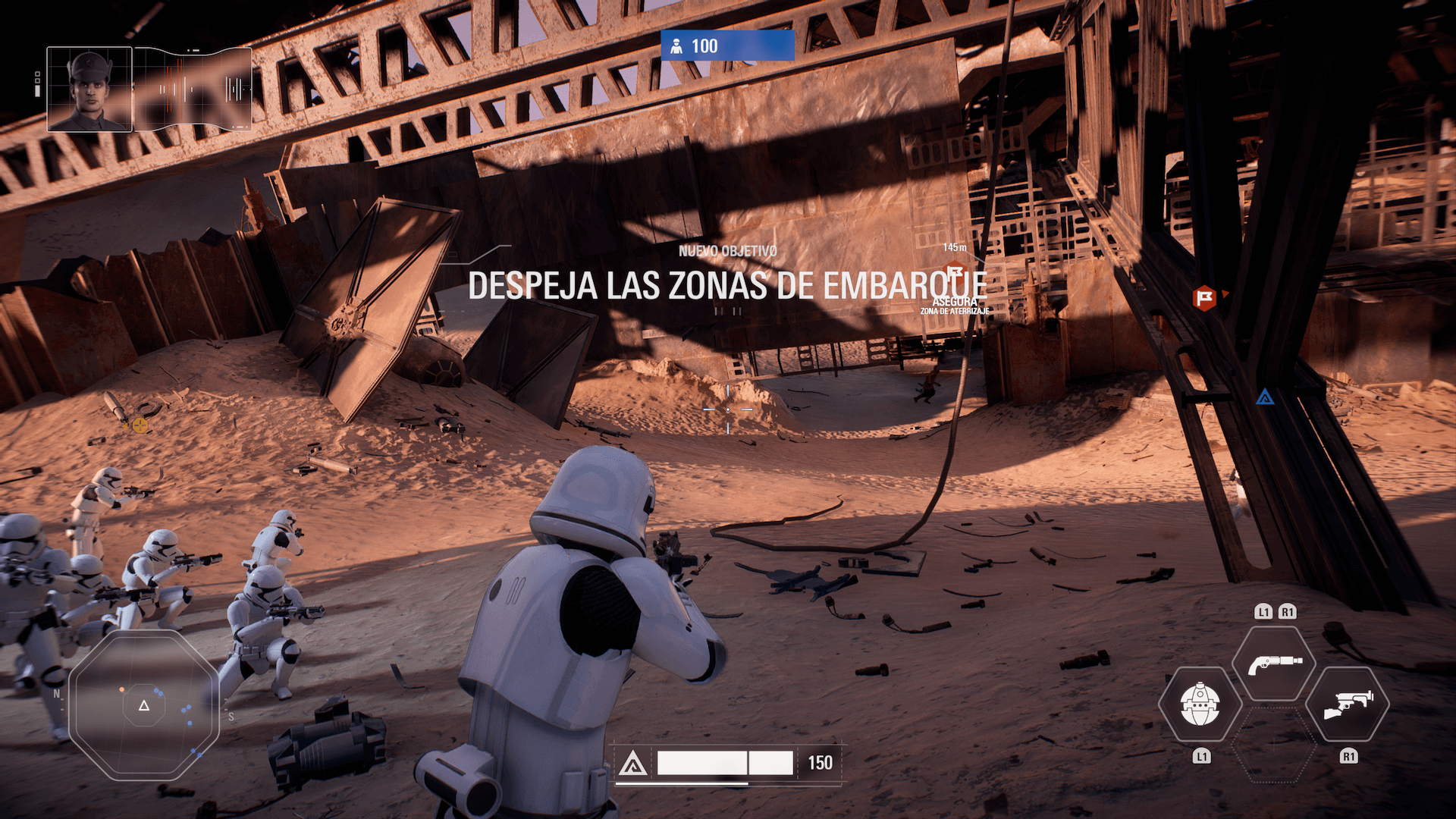 Star Wars Battlefront II: Pantalla in-game