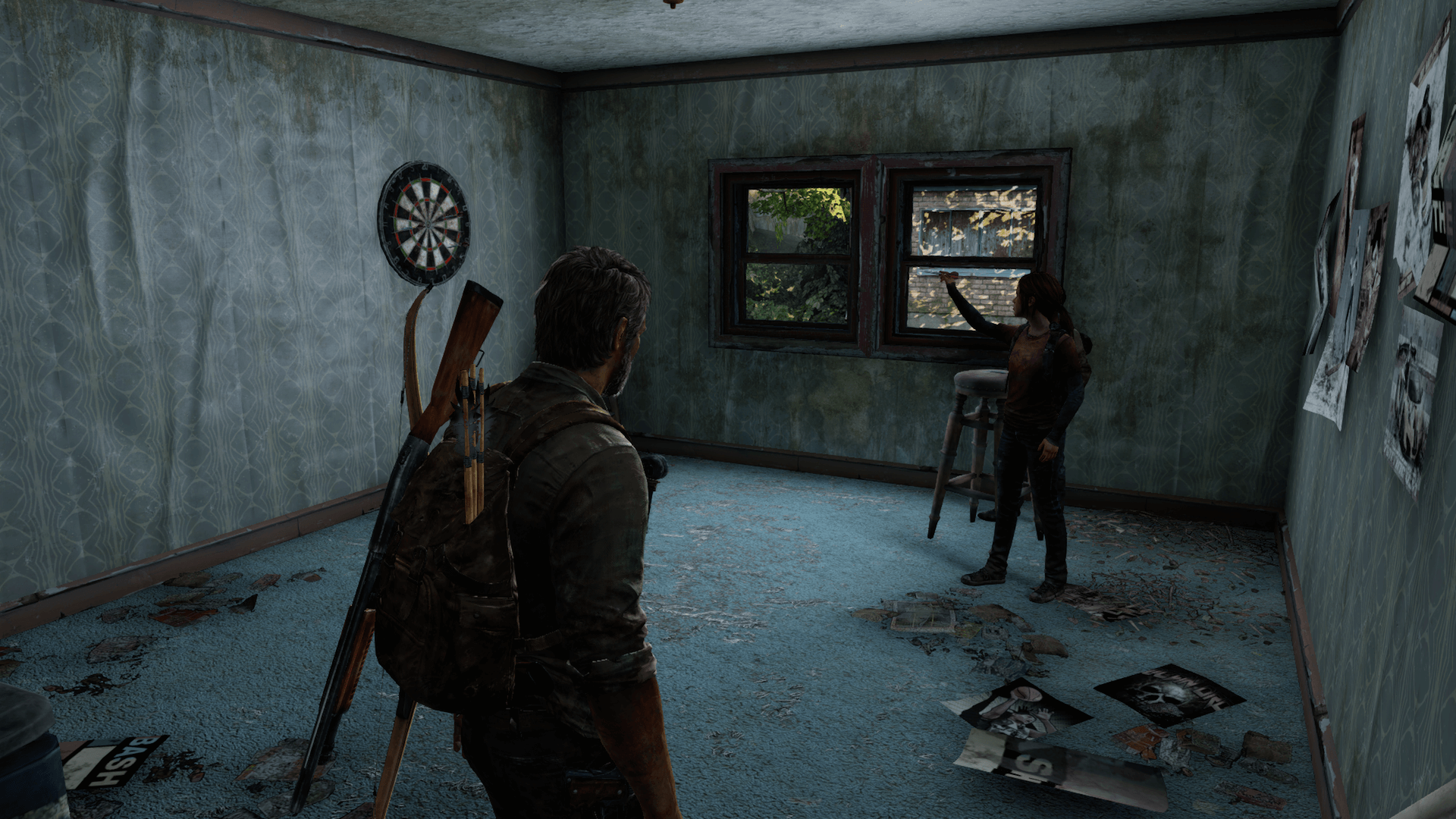 The Last of Us - Ellie practicando puntería